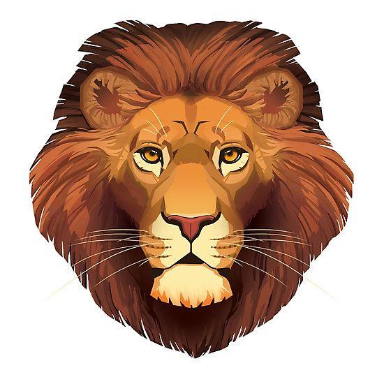 """""""Lion face"""" by Paula Lucas. Part of the Feline Portrait series."""