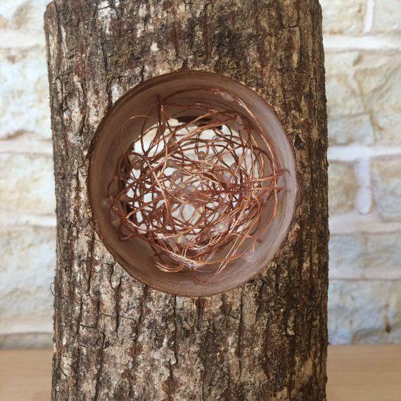Handgemachte Log Lampe Tisch Lampe von Uniquelightingco auf Etsy