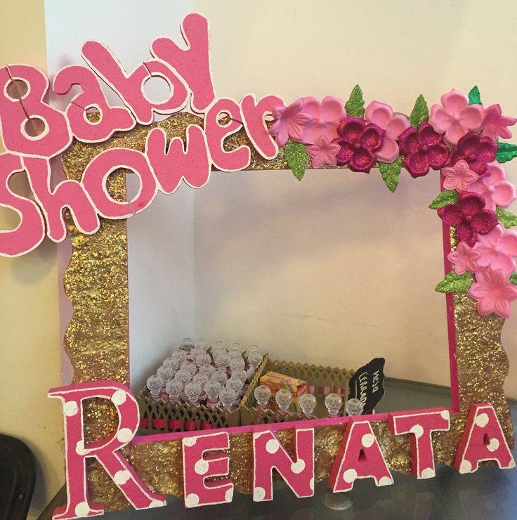 Baby shower niña marco para fotos