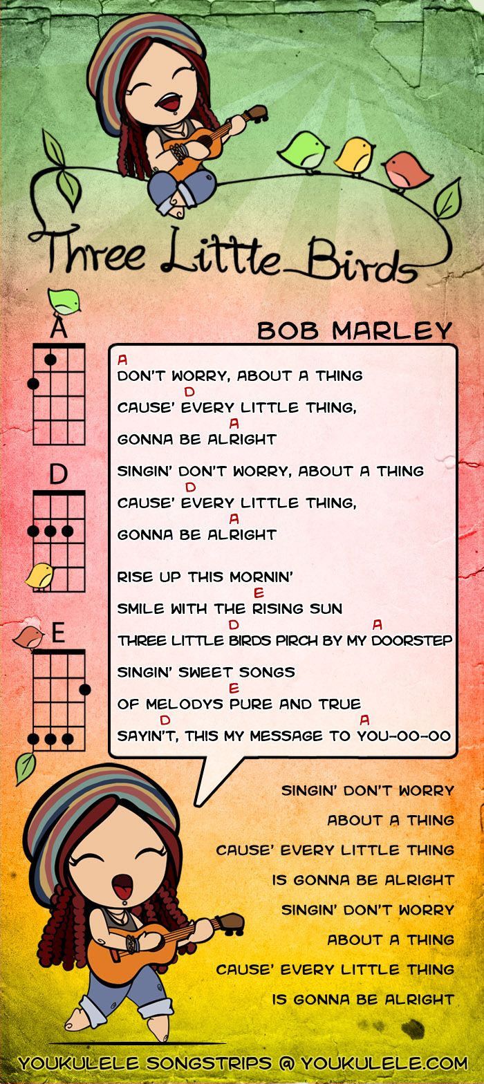Three Little Birds - Bob Marley uke chords                                                                                                                                                                                 More