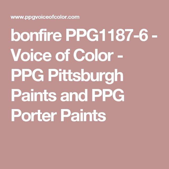 bonfire PPG1187-6 - Voice of Color - PPG Pittsburgh Paints and PPG Porter Paints