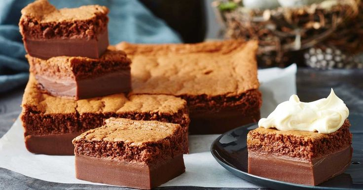 The kids will love this magical chocolate cake that has a dense and fudgy bottom, a fluffy mousse middle and crunchy, crisp top.