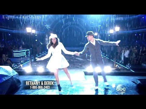 dwts 19 week 7 bethany and derek dating