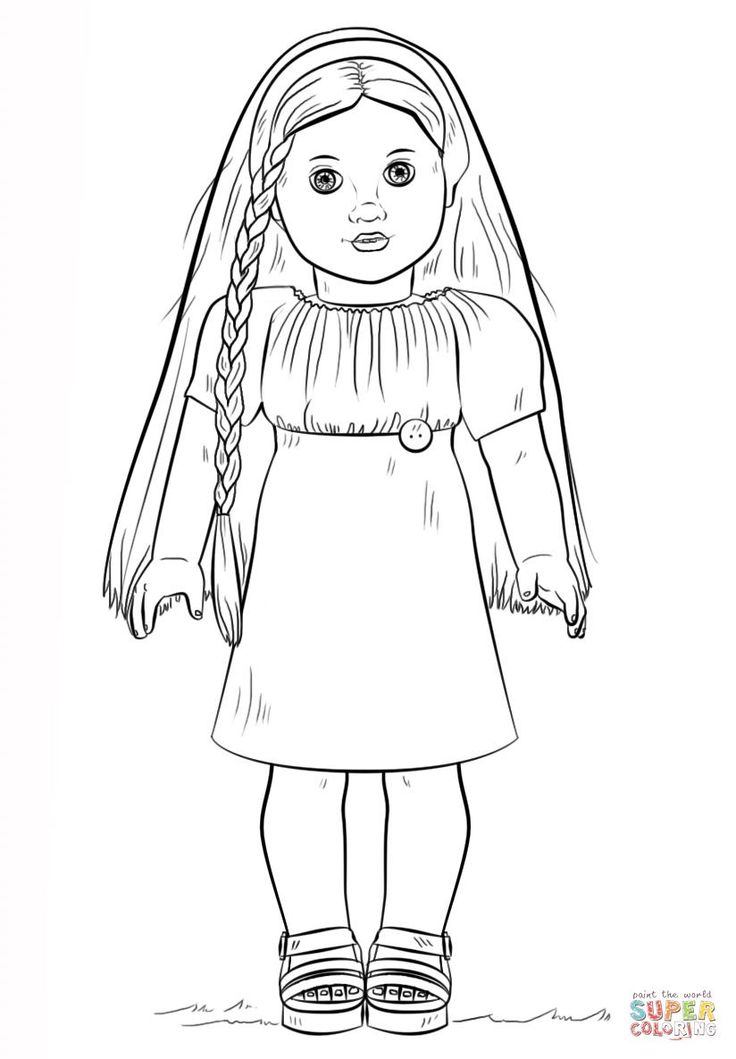 american girl doll lea coloring pages for girls