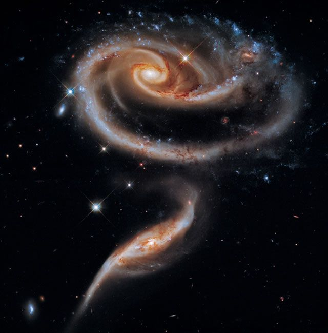 Arp 273 – Rose Galaxy #Hubble