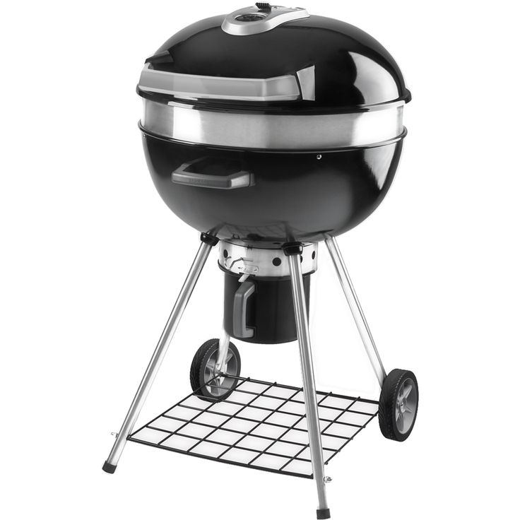 Napoleon Rodeo Charcoal Kettle Grill with Cart compact charcoal kettle grill provides a multitude of options perfect addition to outdoor cooking lifestyle.