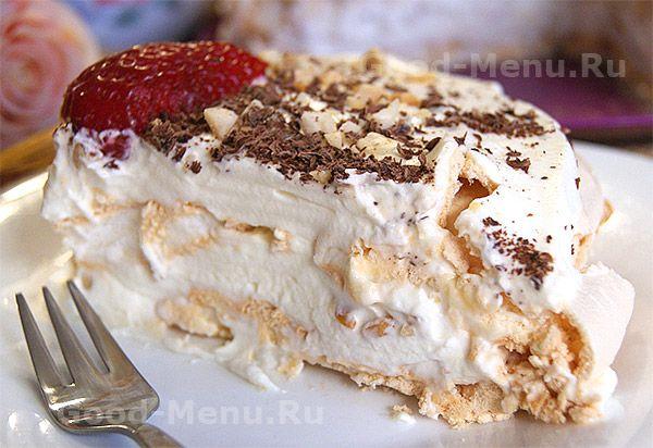 Торт с безе - рецепт
