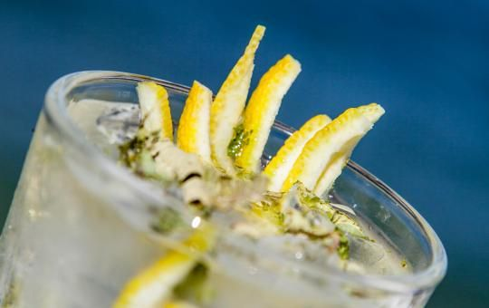 Calypso's tears // A Refreshing and Low-alcohol Drink with verbena herb