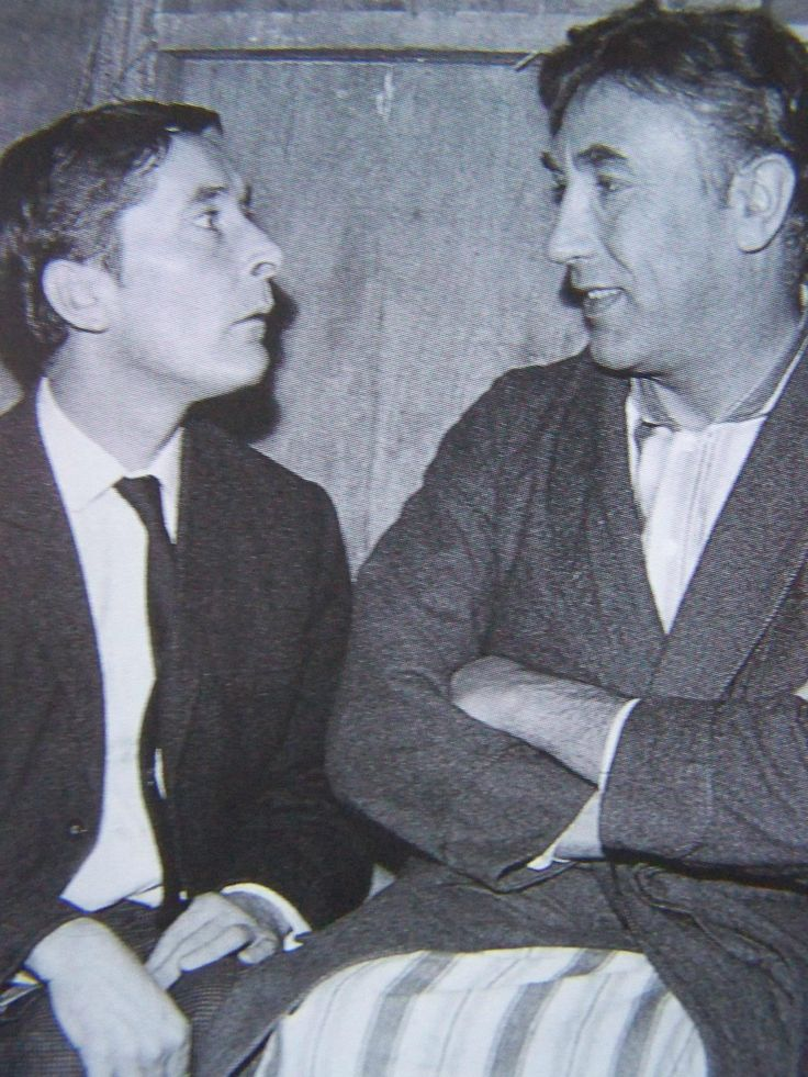 Kenneth Williams & Frankie Howard on the set of Carry On Doctor