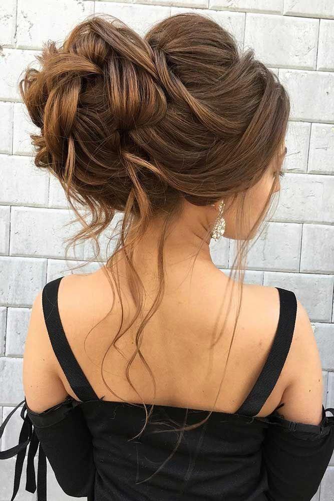 A Voluminous Updo For Long Hair #weddingupdo #weddinghair #longhairstyles ❤️ Whether you prefer loose or vintage hairstyles, find the elegant wedd...