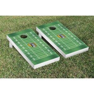 Averett University Cougars Cornhole Game Set Football Field Version from TailgateGiant.com