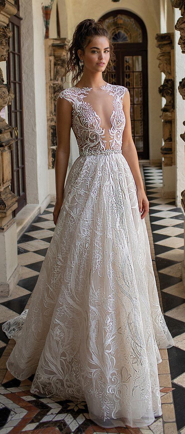 31587971ce Berta illusion neckline lace wedding dress 2019 collection  weddingdress   weddinggown  bertaweddingdress  weddinginspiration