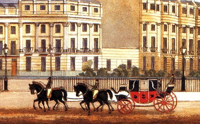 Stables | The Regency Town House Each large house in Brunswick Square and Terrace had a two storey stable block to the rear, comprising of four or six stalls for horses, a carriage stand and a harness room on the ground floor with a hay loft and coachman's accommodation above. There was access to the stables directly from the back of the house at ground or first floor level.