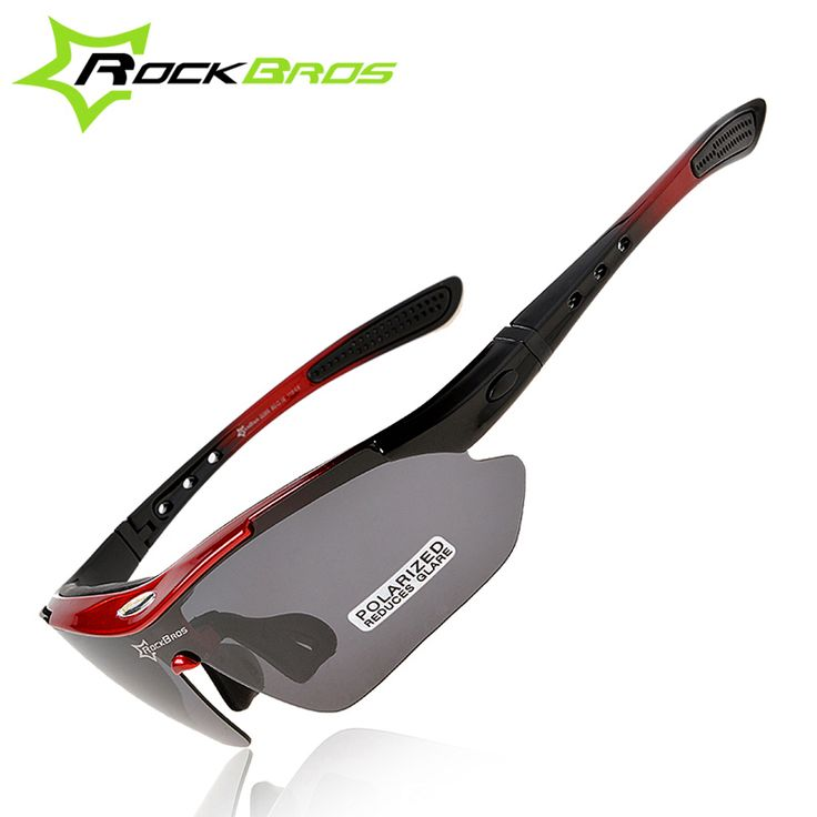 ROCKBROS Polarized Cycling Glasses Outdoor Sports Bicycle Sunglasses Bike Goggles Cycling Eyewear Myopia Frame 5 Lenses Glasses