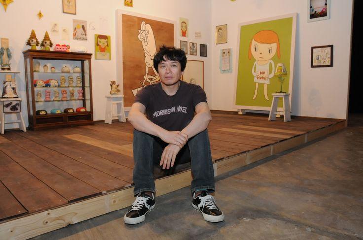 Heart on his sleeve: Artist Yoshitomo Nara in a re-creation of his studio at his current exhibition. | SATOKO KAWASAKI