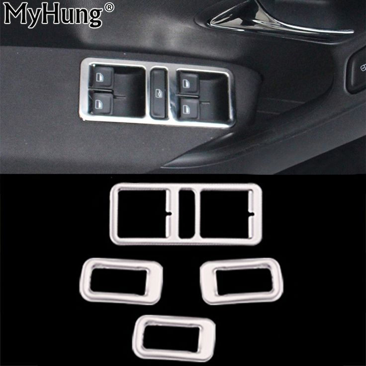 Stainless Steel Interior Door Window Lift Switch Panel Cover For VW POLO 2012 To 2016 Trim Decoration Car Styling For Volkswagen