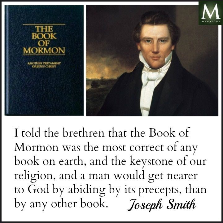 It's full of anachronisms. And somehow this massive civilization left no trace. And DNA evidence proves it a fraud as well. The Book of Mormon. Joseph Smith quote.