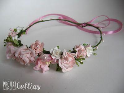 ProjectGallias: #projectgallias flower hair garland, flower crown, wedding, communion, kwiatowy wianuszek na głowę, komunia, ślub, 100% handmade, rękodzieło boho