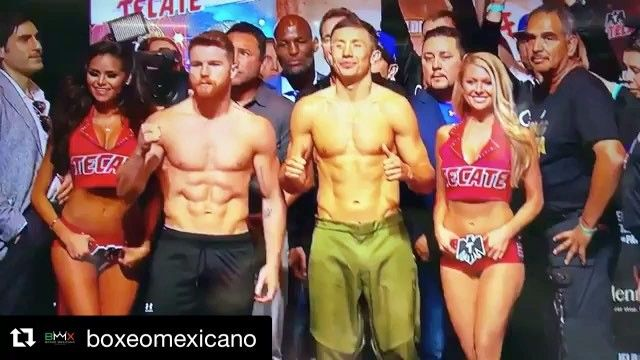 "Thread Legends (@thread_legends) on Instagram: ""Pesaje desde Las Vegas: Gennady Golovkin 160lbs. Canelo Alvarez 160 lbs. . Los títulos AMB/FIB/CMB…"""