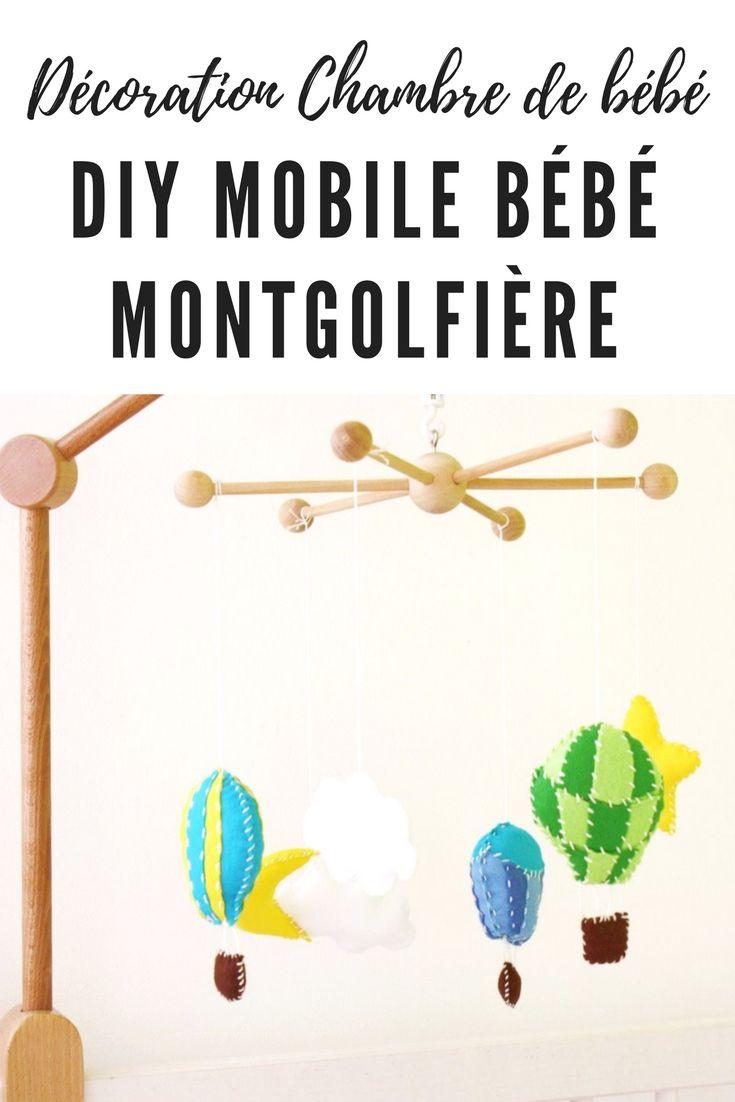 Avec ce DIY mobile bébé montgolfière réalisez une jolie suspension pour le berceau de votre enfant. Tuto pas à pas #tuto #diy #mobilebebe #montgolfiere