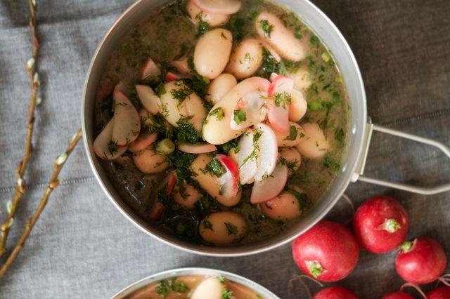 gotować! - Wiosenna sałatka ziemniaczna