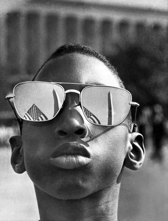 "A kid (Austin Clinton Brown, age 9) attending Martin Luther King Jr's ""I have a dream"" speech, 1963. : OldSchoolCool"