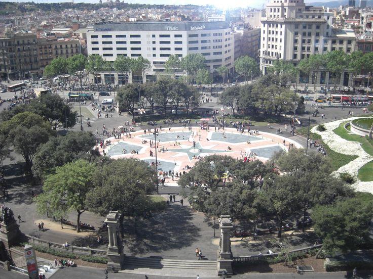 La plaza de catalu a desde el corte ingl s barcelona spain - El corte ingles plaza cataluna barcelona ...