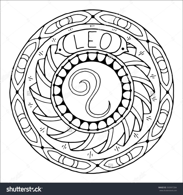 Zodiac Mandala Coloring Pages