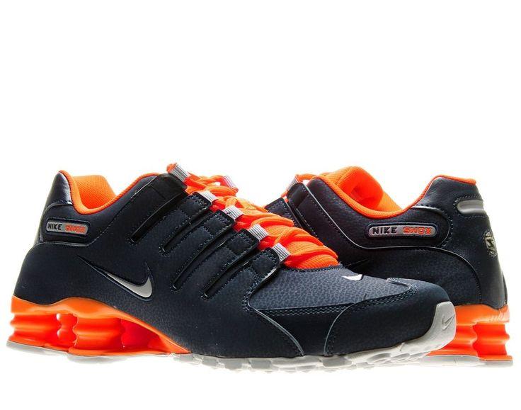 black and orange nike shox