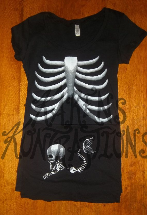 Pick Your Skeleton Baby (plus Moms Ribs) Maternity Tee Shirt - SHORT Sleeve via Etsy