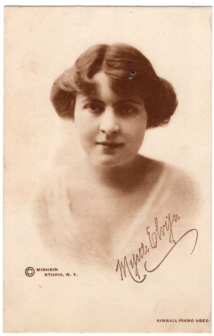 Myrtle Elvyn - Classical Pianist.  Kimball Piano.  Mishkin Studio, N.Y.
