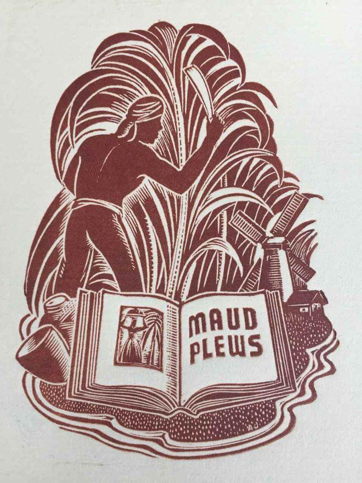 EX LIBRIS BOOKPLATE AUSTRALIAN Allan Jordan (1898-1982) for MAUD PLEWS | eBay