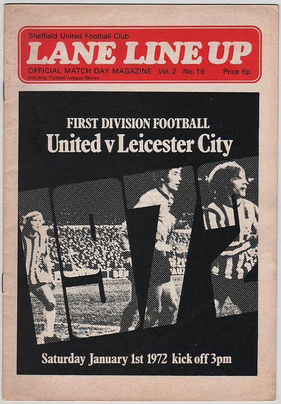 Vintage Football Programme - Sheffield United v Leicester City, 1971/72 season, by DakotabooVintage, £3.99
