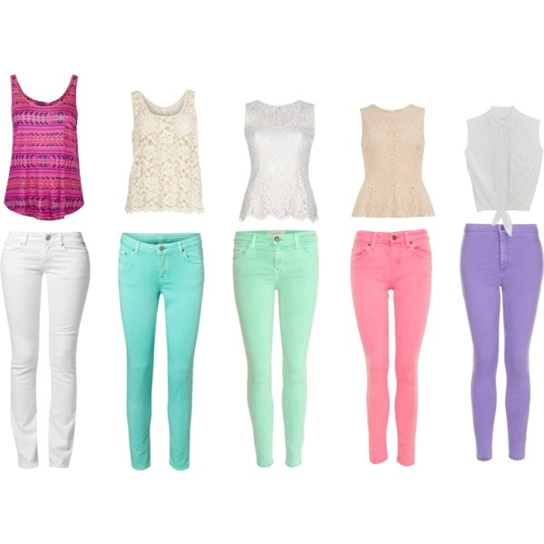 Colorful skinnies. <3Skinny Jeans, Fashion Clothing, Colors Jeans, Amanda Closets, Purple Skinny, Colors Skinny, Crazy Style, Mackenzie Style, Dreams Closets
