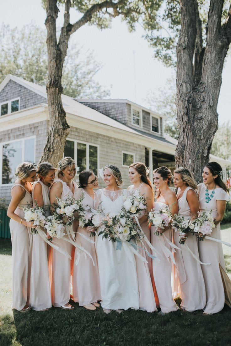 324 best bridesmaids images on pinterest bridesmaids dream boho meets elegance for this maine island inn wedding ombrellifo Images