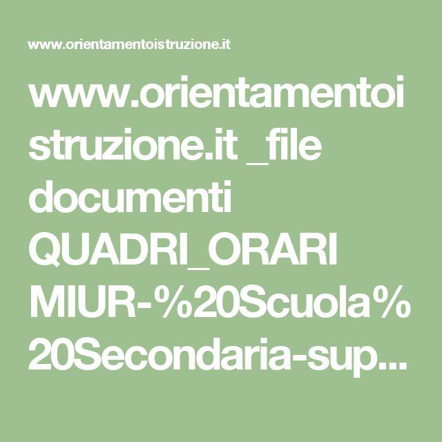 www.orientamentoistruzione.it _file documenti QUADRI_ORARI MIUR-%20Scuola%20Secondaria-superiore.pdf