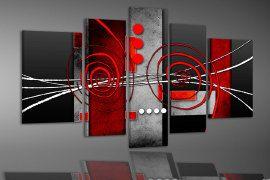 nr 180 Abstract Rood Zwart Grijs