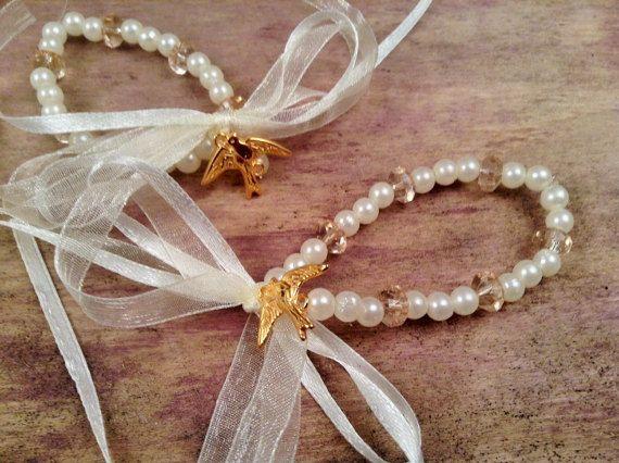 Bachelorette Bracelets 10pcs-Dove Symbol Bracelets- Wedding Bracelet- Wedding Favors-Bridesmaids Gift-Infinity Love Bracelet
