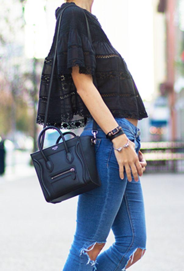Celine Nano Luggage in Black