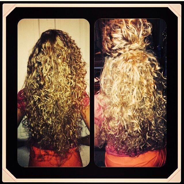 Scrunched hair #braid #curly #bumped #blonde @Blair R Shull