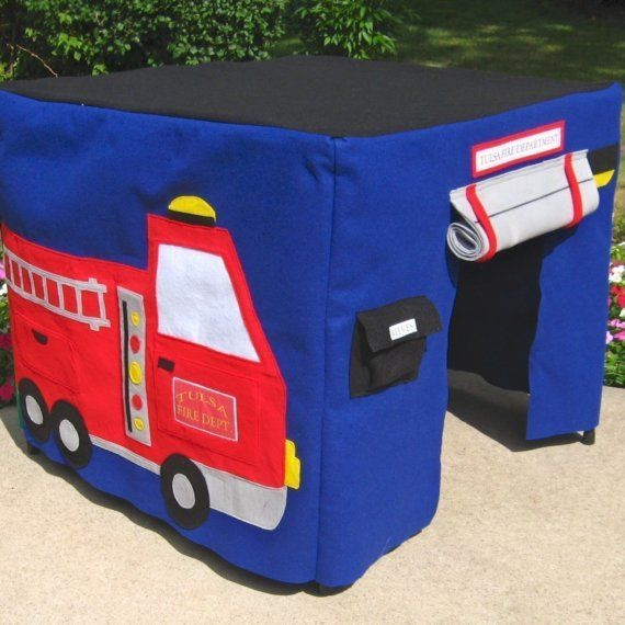 Fire Station Card Table Playhouse Personalized by missprettypretty