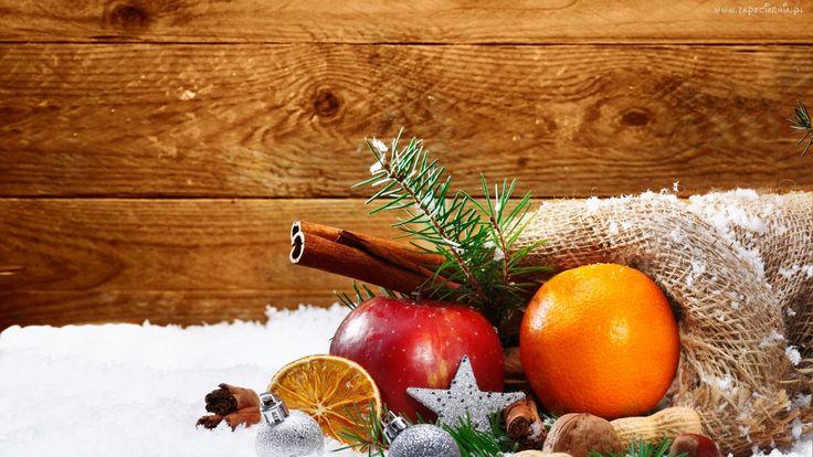 Pomarańcza, Jabłko, Dekoracja, Świąteczna