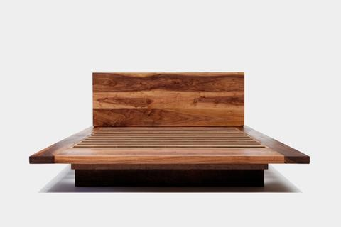 ARTLESS SQ Walnut Bed i would die for this platform bed :0