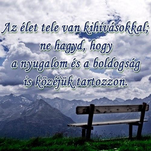Az élet tele van kihívásokkal; ne hagyd, hogy a nyugalom és a boldogság is közéjük tartozzon. # www.facebook.com/angyalimenedek