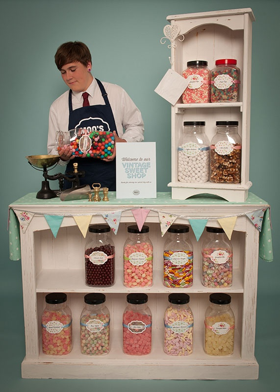 141 best store display ideas images on pinterest good ideas vintage sweet shop hire for weddings junglespirit Gallery