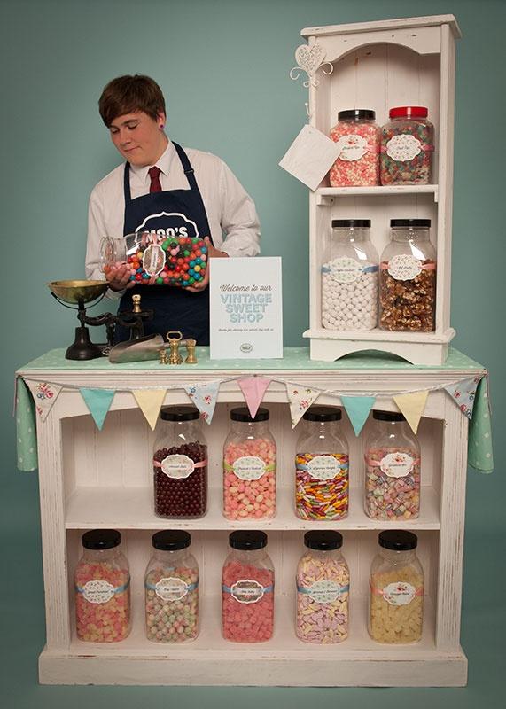 Vintage Sweet Shop Hire for Weddings