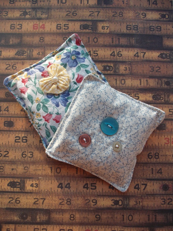 lavender bags in vintage textiles by maxollieandme on Etsy, £6.00