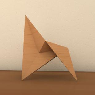 Origami Chair. Rafa Torres. zattelite.wordpress.com                                                                                                                                                                                 More