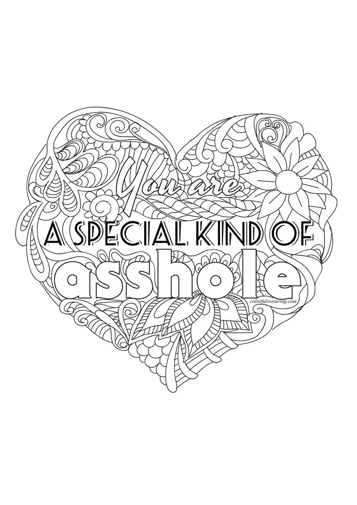 You Are An Asshole Adult Coloring