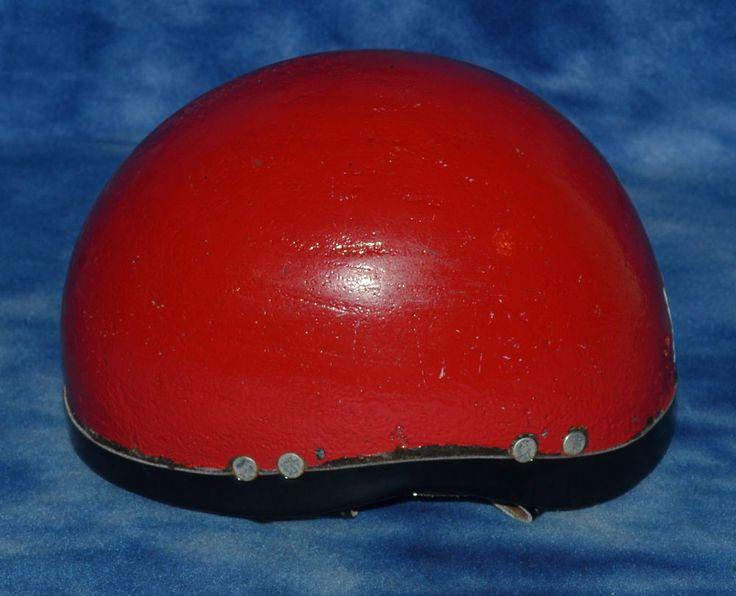 Vintage Jockey Riding Helmet Equestrian Decor Red  #Unbranded